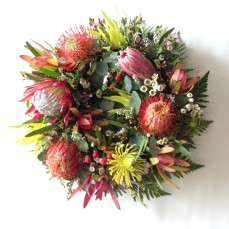 Mixed native Australian plants wreath.