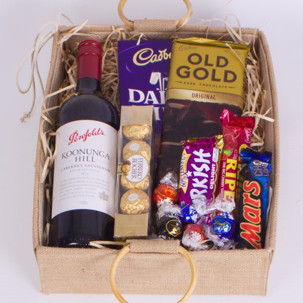 Red wine & Chocolate Hamper