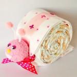 Pink snail nappy cake