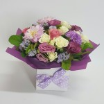 Spoil your mum with this gorgeous mixed pastel arrangement