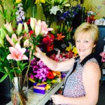 Kathy's Creative Flowers - Kathy in her shop.