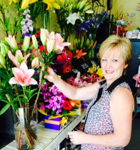Kathy's Creative Flowers - Kathy in her Port Macquarie shop.