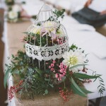 Wedding flowers birdcage