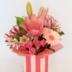 Pink celebration flowers