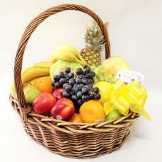A colourful basket of fruit.
