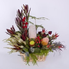 Native Australian flower basket.
